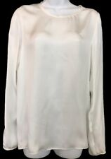 LANVIN blouse Natural White Long Sleeve Size 36