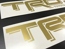 (2) TRD OFF ROAD Decals Stickers Gold Die cut Vinyl Toyota Tacoma Tundra 4Runner