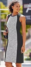 New- Athleta Size Small Black And Heather City Scape Dress Nwt $89