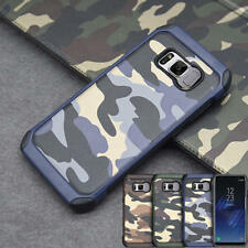 Camo Tough Rubber PC Hard Case For Samsung Galaxy S9 Plus Shockproof Armor Cover