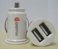 Dual USB Car Charger Car Power Port Adapter Cigarette Lighter Converter white