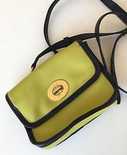 Spartina Green And Navy blue Leather Small Crossbody Bag!  Super Cute!