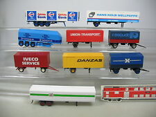 ai803-0, 5 #9X Kibri etc. H0 Trailer F Last Lorry: IVECO +Danzas+Schöller etc.