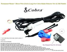New Designed Permanent Mount + Direct Wire (Extra Long) For Cobra Radar Detector