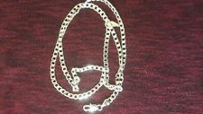 Womens 20inch 925 Sterling Silver Curb Pl Chain