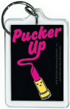David and Goliath Pucker Up Lucite Keychain 65572KEY