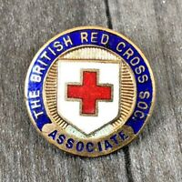 AUTHENTIC VINTAGE BRITISH RED CROSS SOCIETY ASSOCIATE BADGE PIN GAUNT MARKED