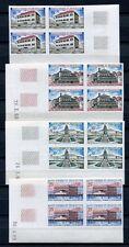St Pierre & Miquelon SPM 1969 Architektur Blocks/4 437-440 U Imperf ND KW €360