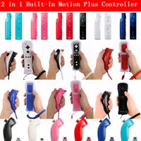Built in Motion Plus Remote & Nunchuck Controller Set For Nintendo Wii / Wii U