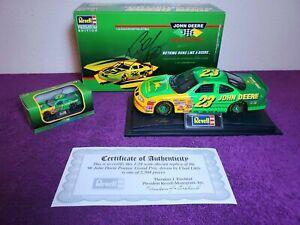 1996 Chad Little John Deere 1/24 Revell & 1/64 NASCAR Diecast Model *BOTH SIGNED