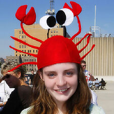New Novelty Funny Lobster Crab Sea Animal Hat Costume Accessory Adult Child Cap