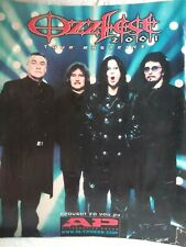 Ozzfest 2001 Tour Magazine -Autographed Black Sabbath Marilyn Manson Slipknot +