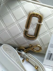 BNWT MARC JACOBS The Quilted Softshot 21  Crossbody Bag IVORY