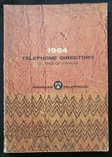 Vintage HAWAII TELEPHONE DIRECTORY 1964 Yellow Pages
