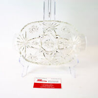 Anchor Hocking: Star Clear Pressed Glass Divided Relish Dish | Vintage