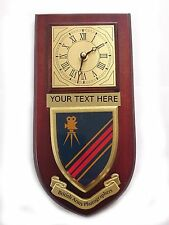 British Army Photographers Personalised Wall Clock Plaque UK Made for MOD
