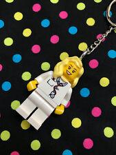 Blonde Hair Nurse Doctor Keyring / Keychain..made using LEGO ® parts