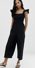 ASOS shirred frill sleeve jumpsuit in UK size 6