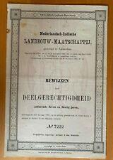 Nederlandsch-Indische Landbouw-Maatschappij - Amsterdam