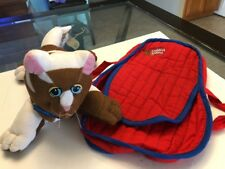 Pound Puppies Carrier Tote Bag Red Blue Tonka 1985 1986 Vintage With Cat