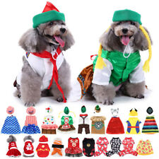 Xmas Pets Christmas Party Dog Jumpsuit Jacket Clothing Puppy Cat Fancy Costume