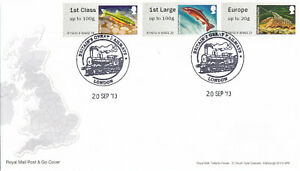 (44470) GB FDC Post & Go Rivers Freshwater Life Brritains Great Railways 2013