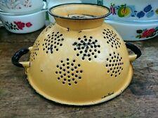 Fab 70's Vintage Colander Sieve - Orange- Shabby Kitchenalia