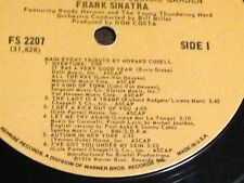Frank Sinatra - The Main Event Live from Madison Square Garden 1974 LP Reprise