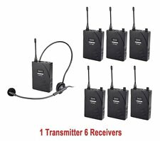 Wireless Headset For Tour Translation Church 1 Transmitter  6  Receivers UHF-938