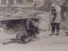 EAU FORTE <AUGUSTE LANCON <CHANTOURTERELLE FIN OCTOBRE 1871< GUERRE