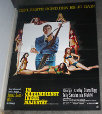ON HER MAJESTY'S SECRET SERVICE original movie poster JAMES BOND/GEORGE LAZENBY