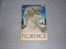 1936 Florence Italy Italian Travel Brochure Tourism ENIT Tour Book WWII Era