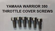 Yamaha Warrior 350 ATV (87-04) Stainless Carburetor Throttle Plate Screws