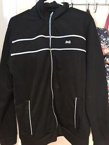Le Tigre mens black and Blue track jacket full zipper Size L
