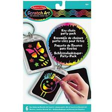 Melissa & Doug Scratch Art Party Pack, Activity Kit - Keychains - Ages 4 Years