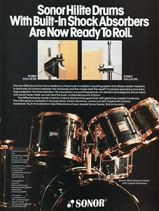 1989 Print Ad of Sonor Hilite Drum Kit Black Diamond Lacquer