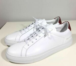 Brand-new Men's Common Projects White/Red Retro Low Leather Sneakers in US 12