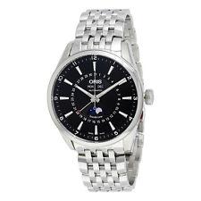 Oris Artix Complication Black Dial Moonphase Automatic Mens Watch