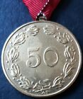 ✚7804✚ Upper Austrian Warrior League medal for 50 years' service post WW2