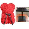 25cm Rose Flower Bear Teddy Birthday Valentine Wedding Party Birthday Gift US