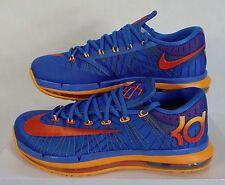 New Mens 12.5 NIKE KD VI Elite Blue Orange Basketball Shoes $200 642838-400