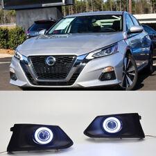 2x LED Running White Fog Light DRL Angle Eyes For Nissan Altima 2019-2020