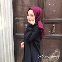 Cotton Hijab, Cotton Scarf, Turkish Hijab Leaf Patter Designed Hijab