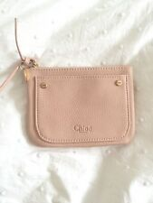 CHLOE pink blush grained Make up cosmetic bag pouch New in Gift box