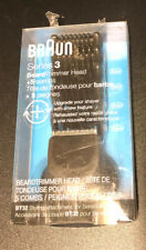 New Old Stock Sealed BRAUN BT32 Series 3 Beard Trimmer Head + five shaver combs