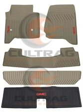 2015-2018 GMC Yukon GM Front & 2nd & 3rd Row & Cargo All Weather Floor Mats Dune