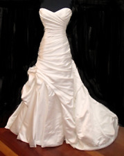 💕 MAGGIE SOTTERO 💕$1199 LYNNIS 10 FIT-FLARE IVORY CORSET WEDDING DRESS NO SASH