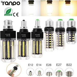 LED Corn Light Bulb E27 E14 E26 B22 5-15W Super Bright High Quality Lamp 220V RH