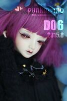 Bjd Doll Wig 1/3 8-9 Dal Pullip /AOD DZ AE DOD LUTS Dollfie purple Mix Hair