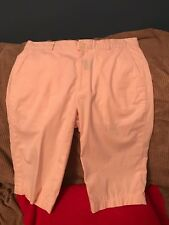 Polo Golf Ralph Lauren Women 10  Pink Shorts Casual Cotton Checked